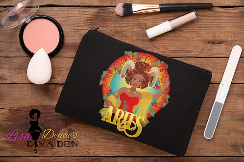 """Aries """"Ram"""" Cosmetic Pouch"""