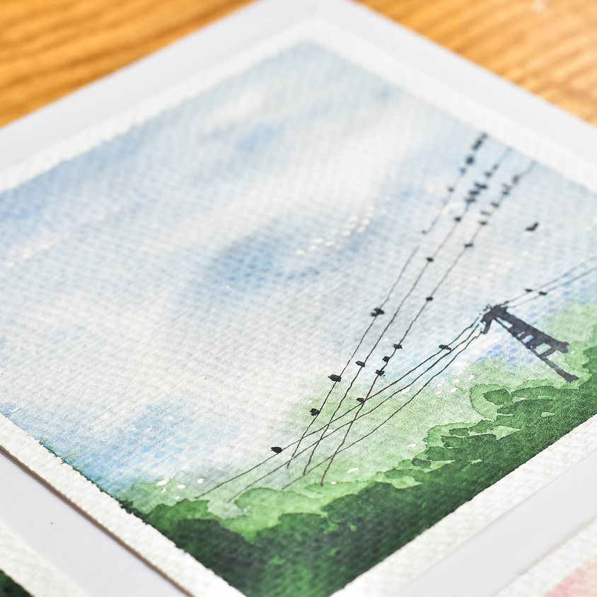SKY LANDSCAPE - WATERCOLOR