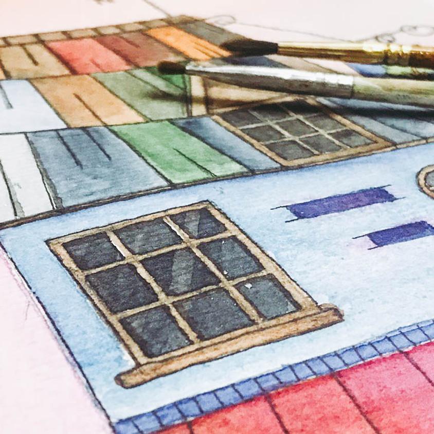 WATERCOLOR: HOUSE FACADE ILLUSTRATION