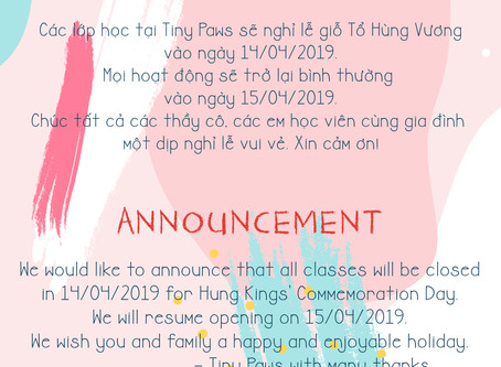 April's announcement!