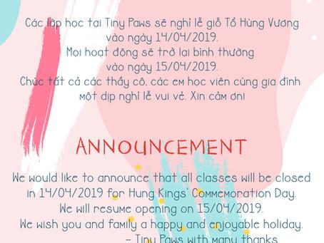 April's announcement!