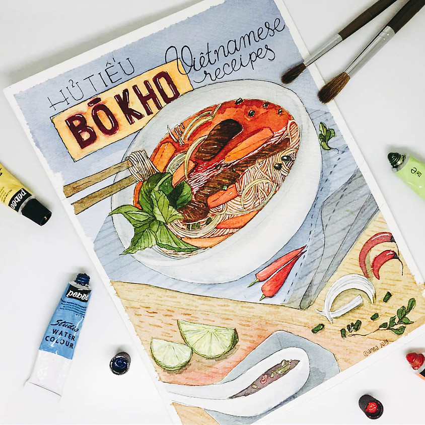 ART PROJECTS: FOODS ILLUSTRATION