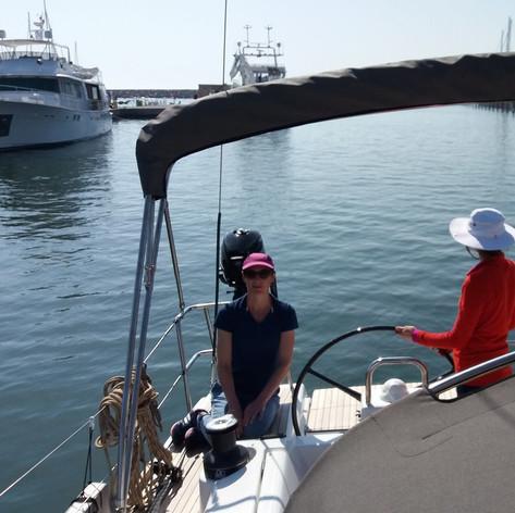 Manoeuvres au port en voilier