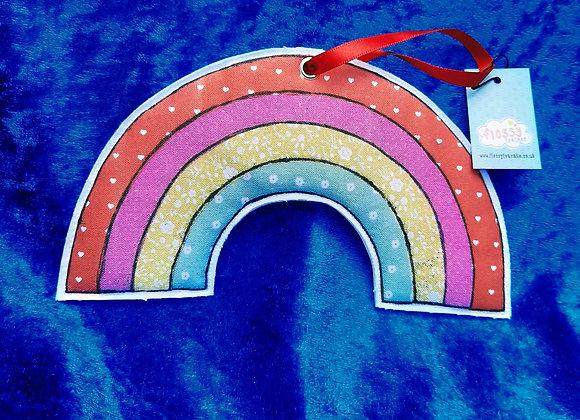 Fabric Hanging Rainbow Decoration