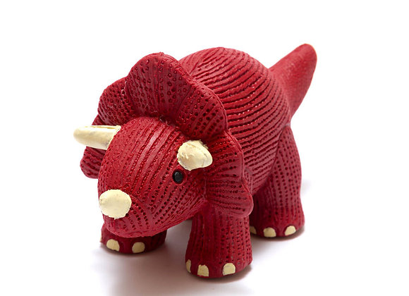 My First Natural Rubber Triceratops tTeether and Bath Toy