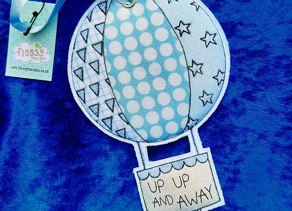 Fabric Hanging Blue Hot Air Balloon Decoration