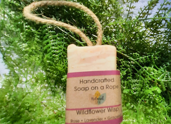 Wildflower Wisp Cold Process Soap on a Rope 100g