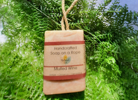 Mulled Wine Cold Process Soap On A Rope 100g