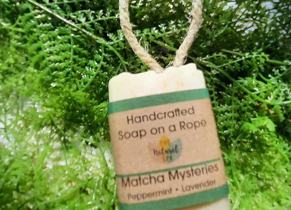 Matcha Mysteries Cold Process Soap On a Rope100g