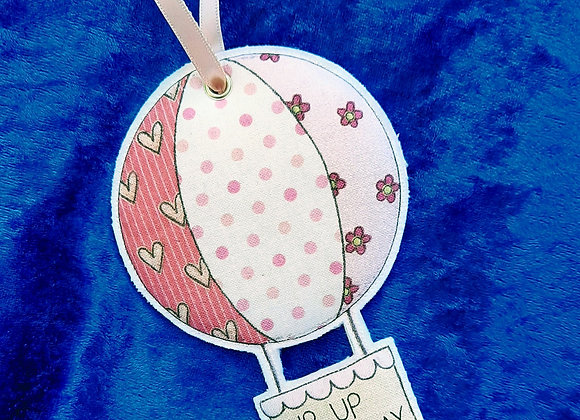 Fabric Hanging Pink Hot Air Balloon Decoration