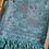 Thumbnail: Vintage Butterfly & Tassel Pashmina Scarf - Neon Blue
