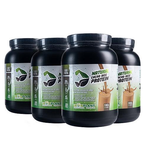 Proteína de Arroz con Cacao Orgánico 4 kilos