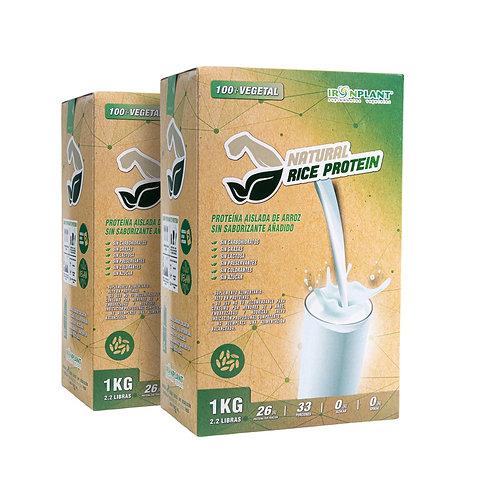Proteína de Arroz Natural (sin sabor) 2 Kilos Caja