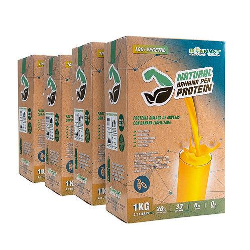 Proteína de Arveja Banana 4 Kilos Caja