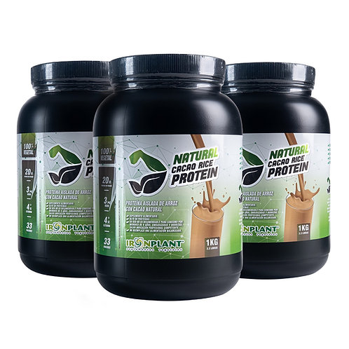 Proteína de Arroz con Cacao Orgánico 3 kilos