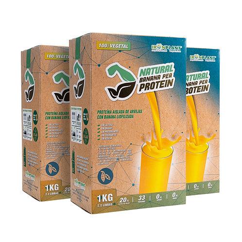 Proteína de Arveja Banana 3 kilos Caja