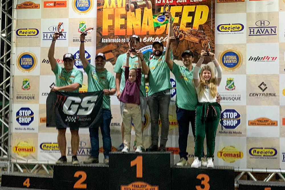 Pódio UTV Campeonato Catarinense Fenajeep