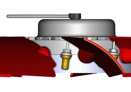 Step fan blade angle