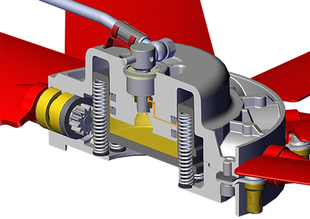 Cleanfix Hydraulic actuation