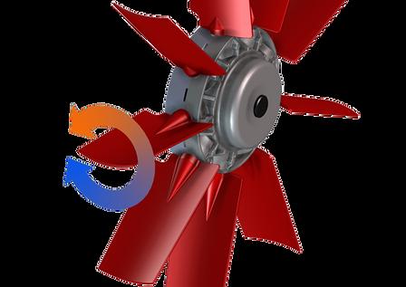 Cleanfix fan blades