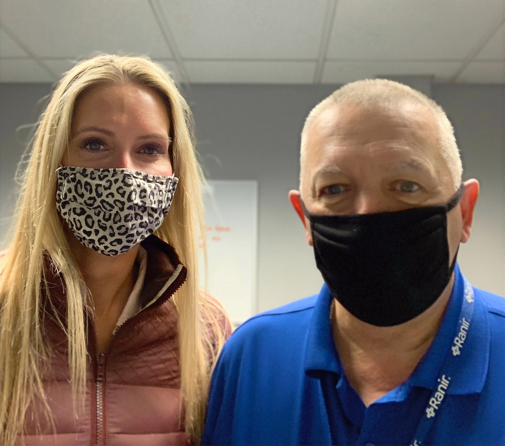 Heather with Kevin, client of Paradigm Safety.