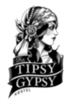 The Tipsy Gypsy Hostel logo in Canggu Bali Indonesia