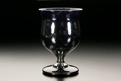 水口智貴作 銀熔変ワイングラス mt04-3