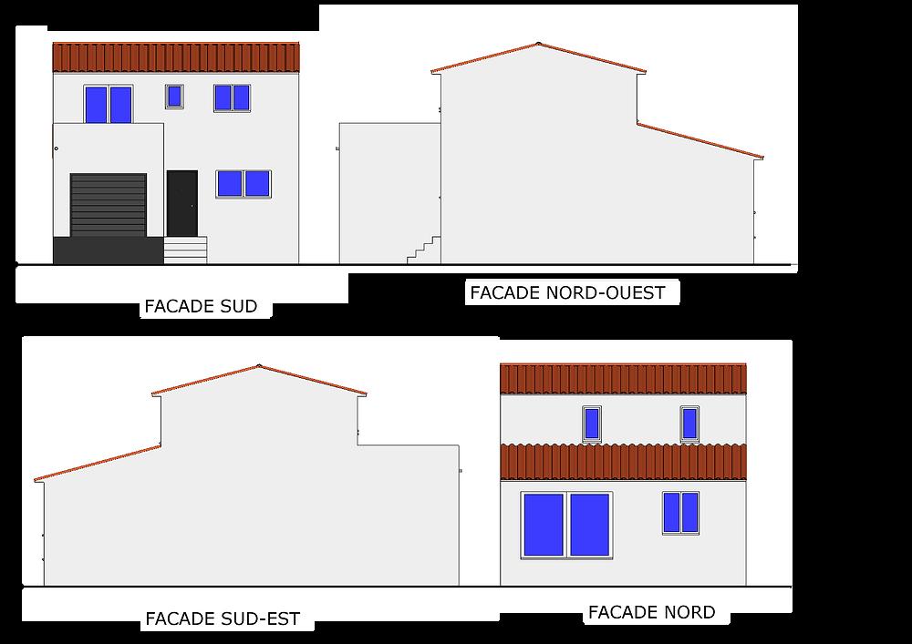 projet maison 2 face dans les Pyrénées-orientales