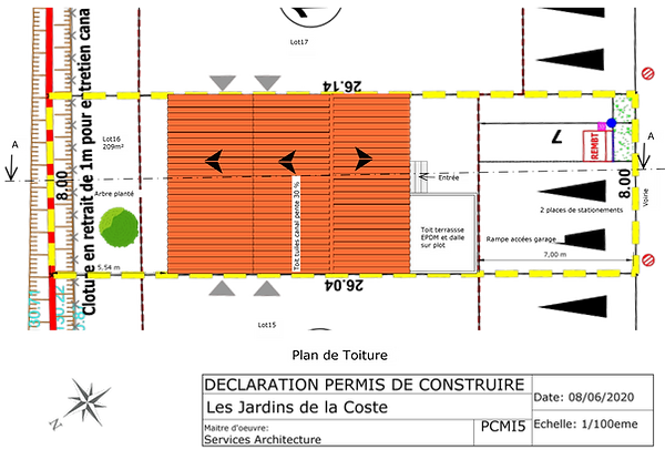 plan de toiture