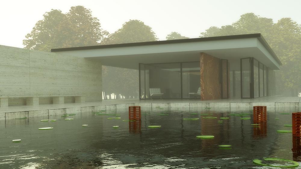 maison 3D avec piscine