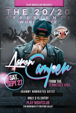 Aaron Camper showcase à Brisbane, Australie (Partenaire Briclyn Ent)