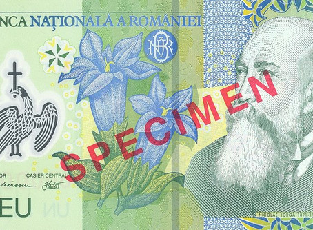 Currency Mirroring Values: Romania's Banknotes