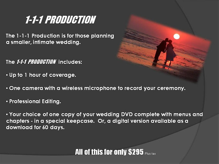 1-1-1 Wedding Production 2021 Website De
