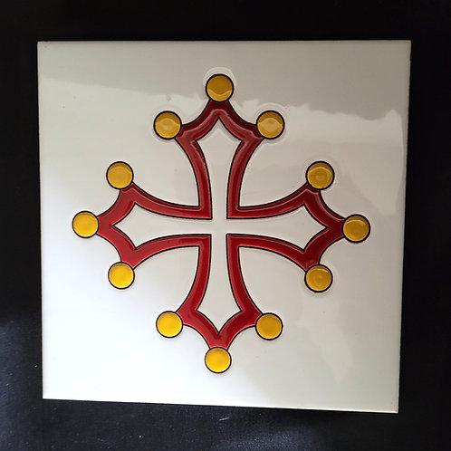 Dessous de plat croix occitane céramique