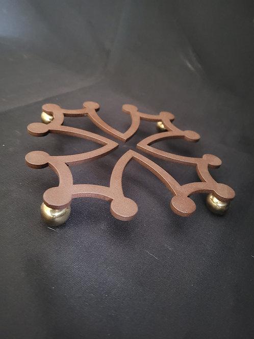 Dessous de plat croix occitane / laiton