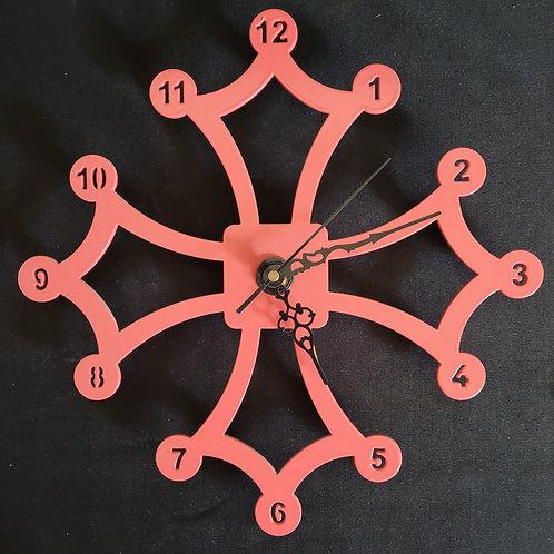 Horloge croix occitane 30 cm avec N°