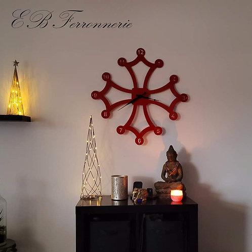 Horloge croix occitane 75 cm