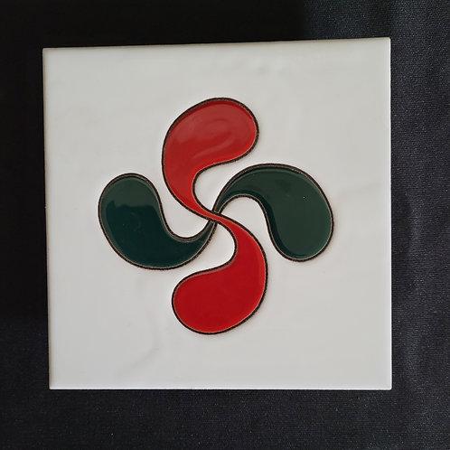 Dessous de plat croix basque 20 cm