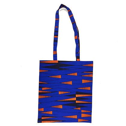 Tote Bag Triangles Orange