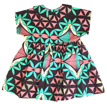 Robe Carlotta Fleurs géometriques