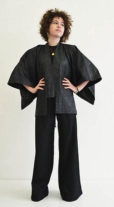 Veste kimono Bazin Black