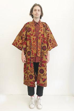 Manteau kimono Fleurs liane