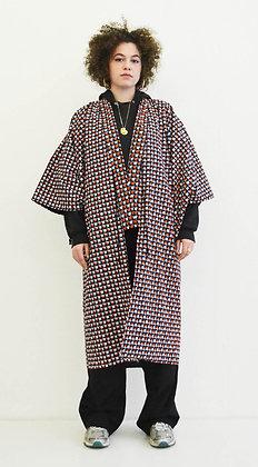 Manteau kimono  imprimé Carrés