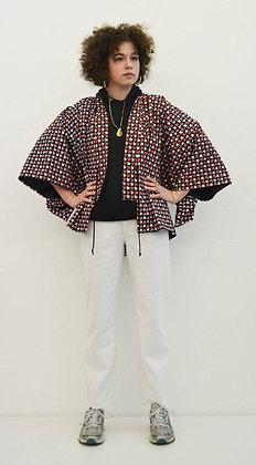 Veste kimono  imprimé Carrés