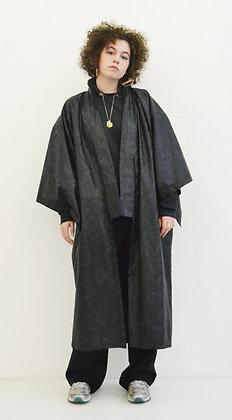 Manteau kimono Bazin noir Baroque
