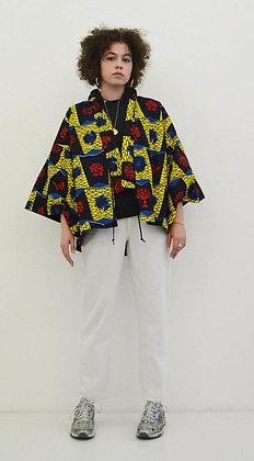 Veste kimono imprimé Arbre
