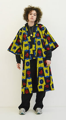 Manteau kimono imprimé Arbre