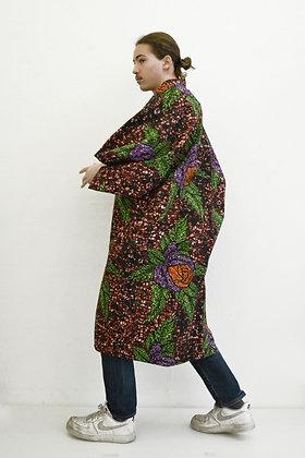 Manteau kimono Fleurs pixelisées