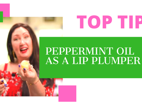 Lip Plumping Peppermint oil