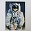 """Thumbnail: Série de 4 cartes postales 1969 """"Marche sur la lune"""""""